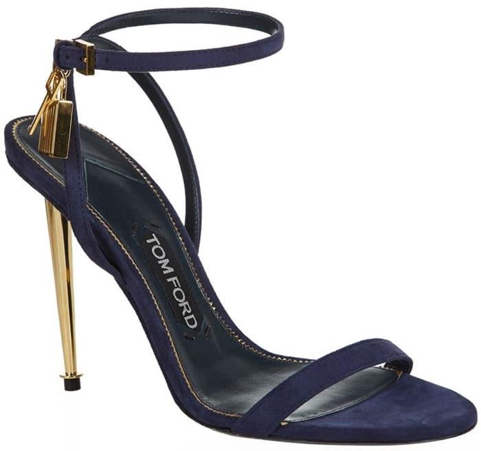 Tom Ford Padlock Naked Strap Sandals