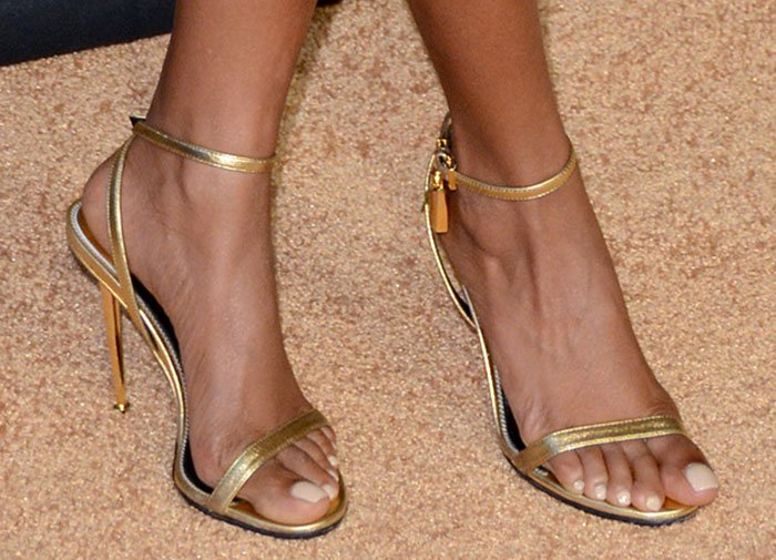Taraji P. Henson's sexy feet in Tom Ford sandals