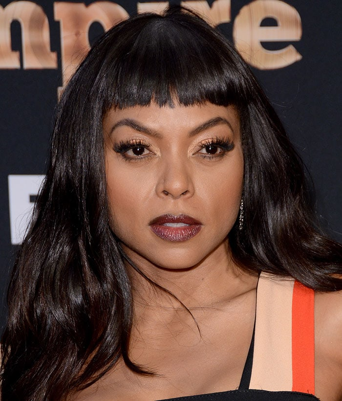 Taraji P. Henson with Bettie Page-inspired 1950 pin-up hairstyle