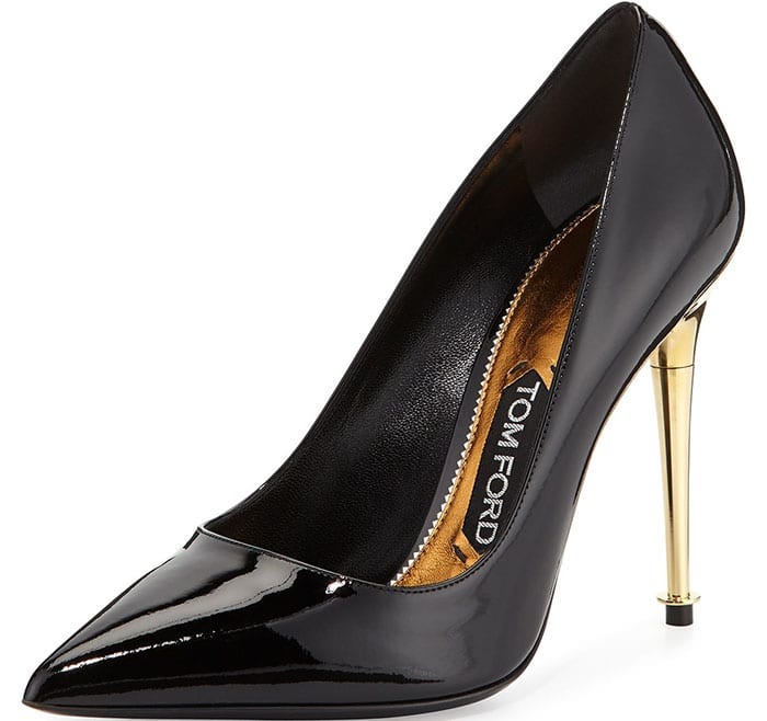 Black Tom Ford Patent-Leather Pin-Heel Pumps