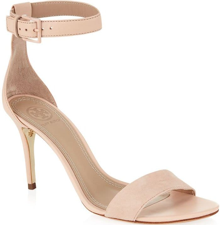 Tory Burch Classic Ankle Strap Leather Sandal