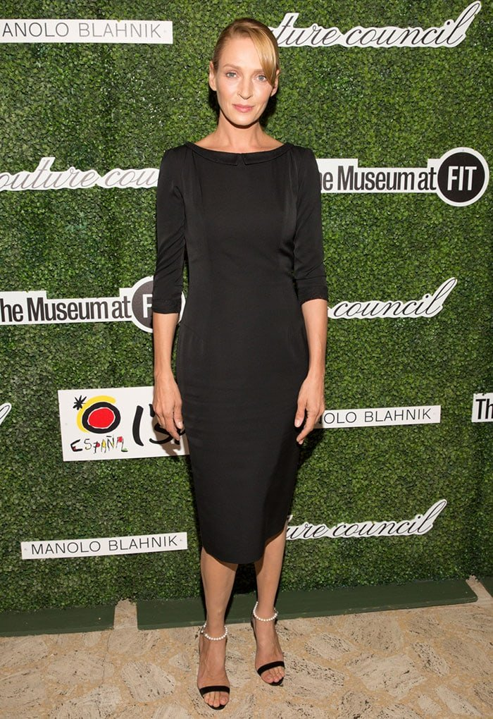 Uma Thurman attends the 2015 Couture Council Awards Luncheon honoring Manolo Blahnik