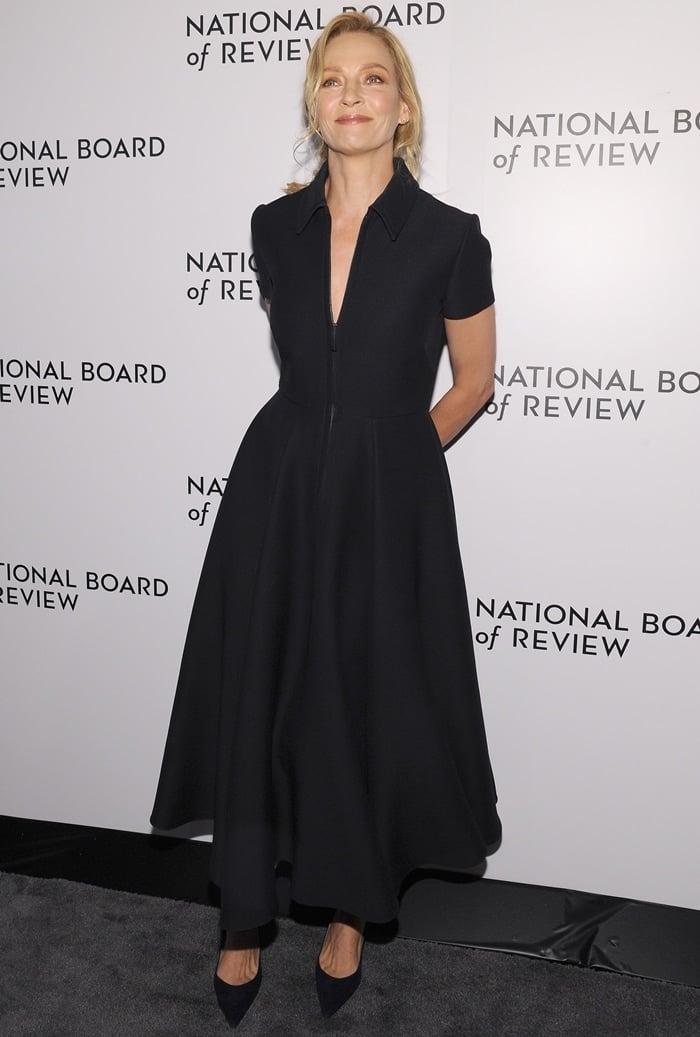 Uma Thurman at the 2020 National Board Of Review Gala