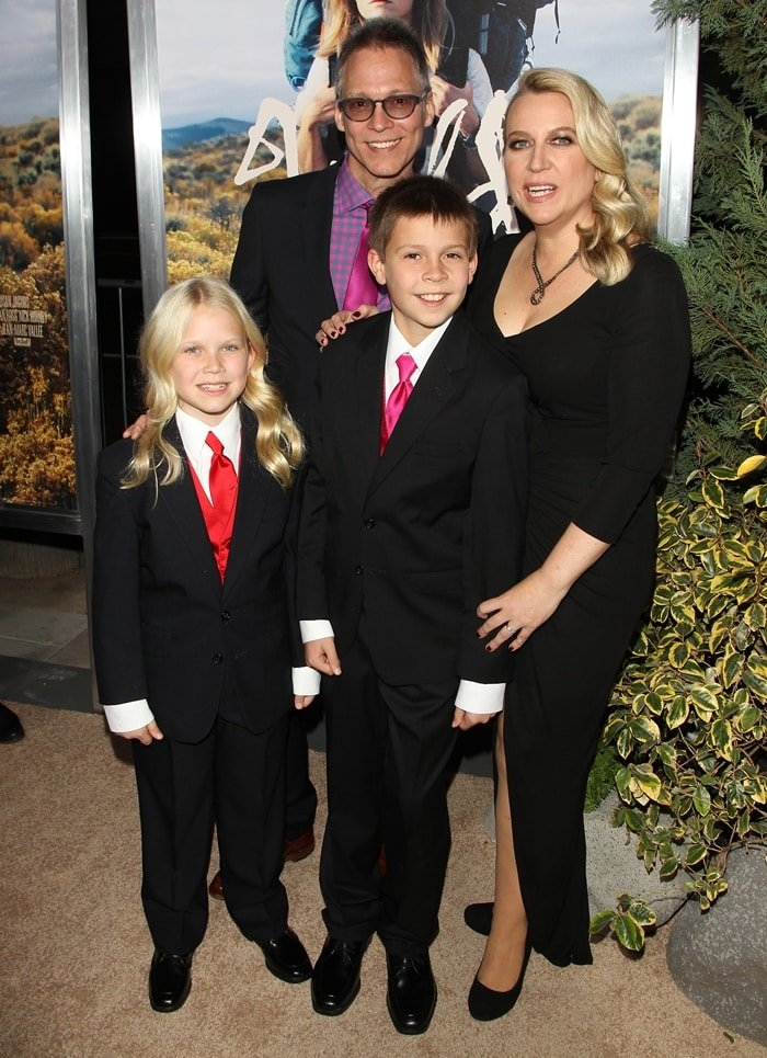 Wild author Cheryl Strayed with her husband Brian Lindstrom and their two sons atthe Premiere of Fox Searchlight's 'Wild'