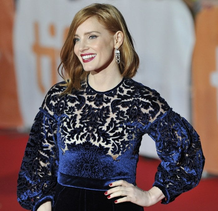 40th Toronto International Film Festival - 'The Martian' - Premiere Featuring: Jessica Chastain Where: Toronto, Canada When: 11 Sep 2015 Credit: Dominic Chan/WENN.com