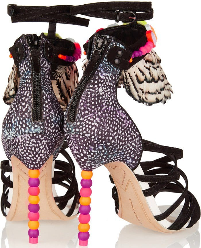 Alessandra Pastel Feather Sandal