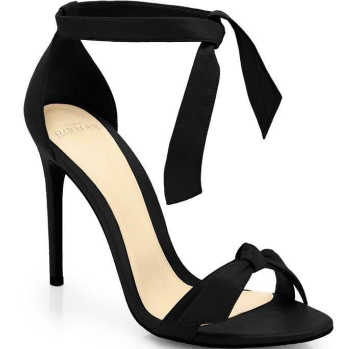 Alexandre Birman Clarita Suede Ankle-Tie Sandals Black