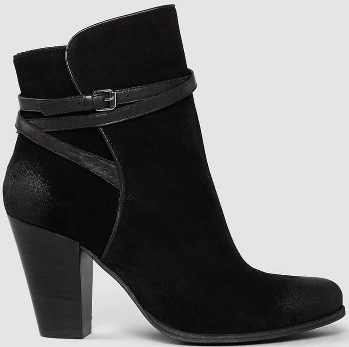 AllSaints Victoria Heels Boot Black