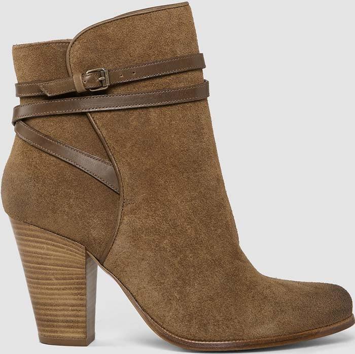 AllSaints Victoria Heels Boot Tobacco