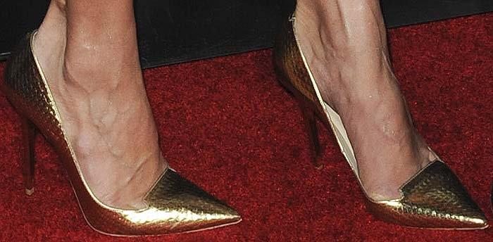 Amal Clooney's feet in Jimmy Choo pumps
