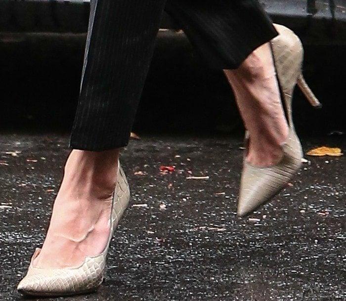 Amal Clooney's feet in Paul Andrew pumps