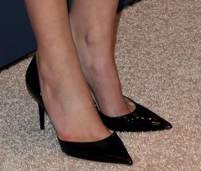 "Anna Kendrick's feet in Jimmy Choo ""Addison"" shoes"