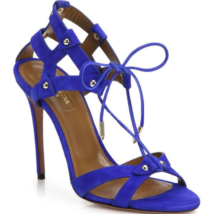 Aquazzura Bel Air Sandals Studded