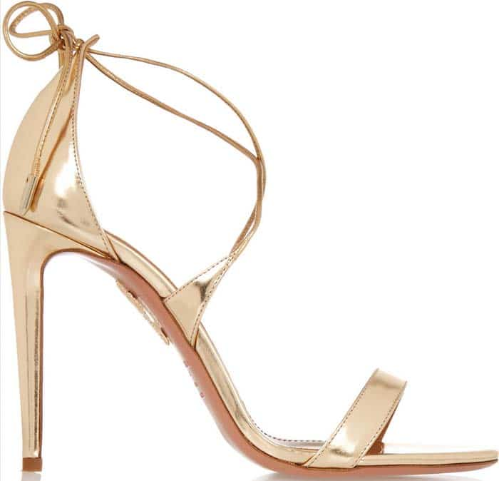 Aquazzura Linda Sandals Gold