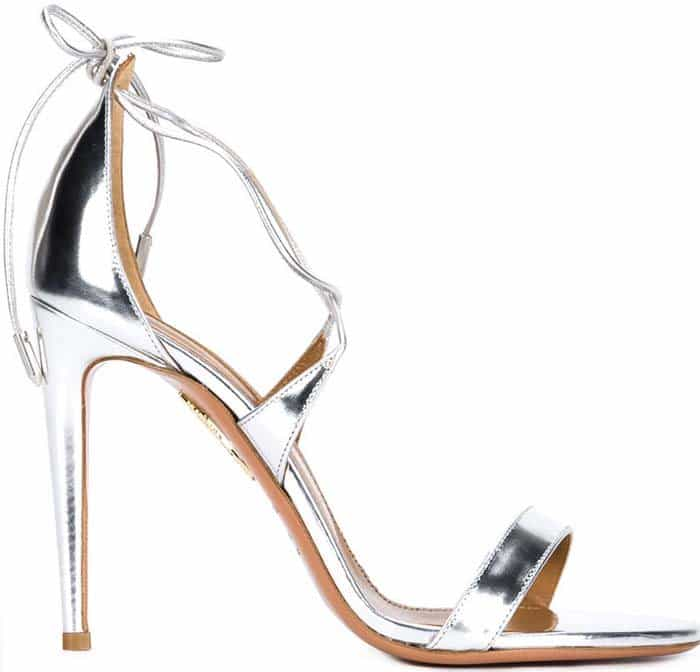 Aquazzura Linda Sandals Silver