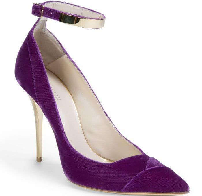 Balmain Lilea Velvet Point Toe Pumps
