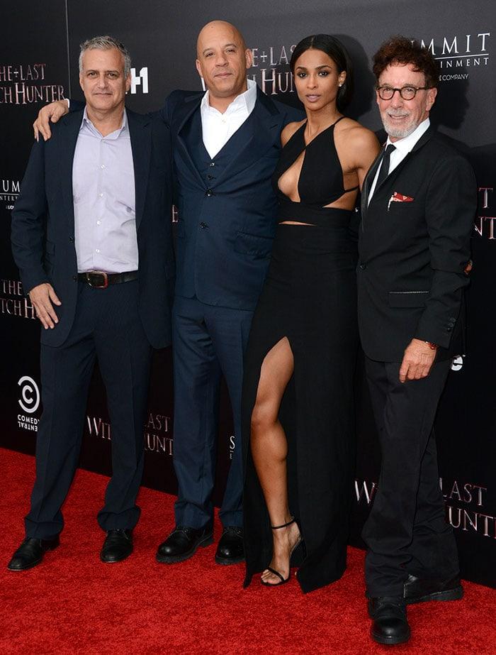 Bernie Goldmann, Vin Diesel, Ciara and Mark Canton pose for photos