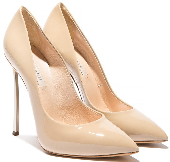 Casadei Dust Patent Leather Blade Pump