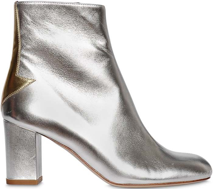 Camilla Elphick 75mm Silver Lining Leather Boots