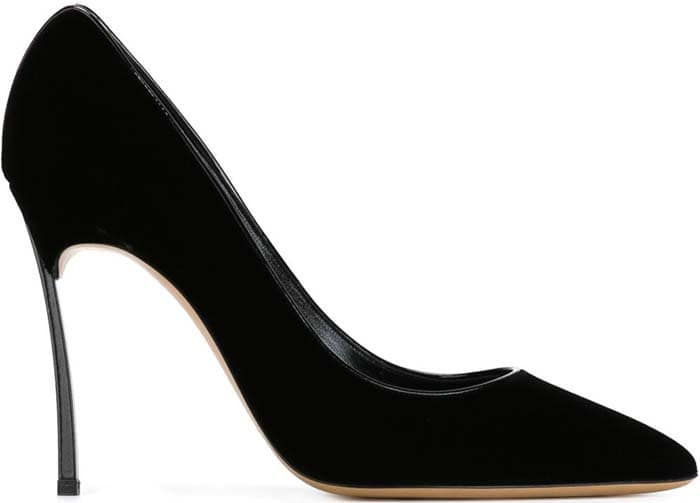 Casadei Black Blade Pointed Toe Pumps