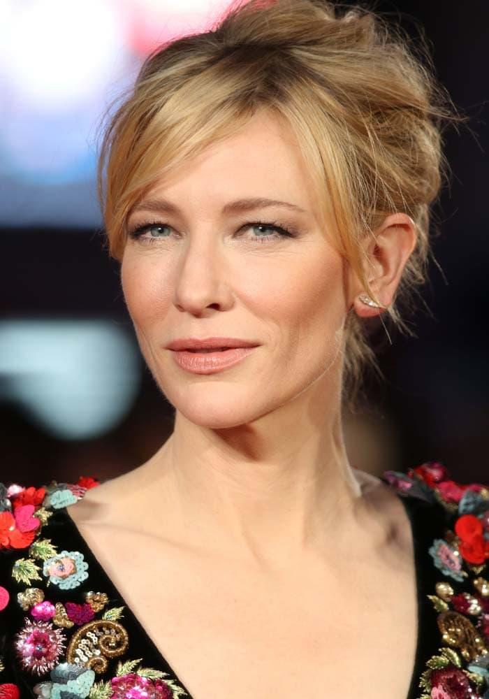 "Cate Blanchett attends the premiere of ""Truth"" at the British Film Institute London Film Festival"