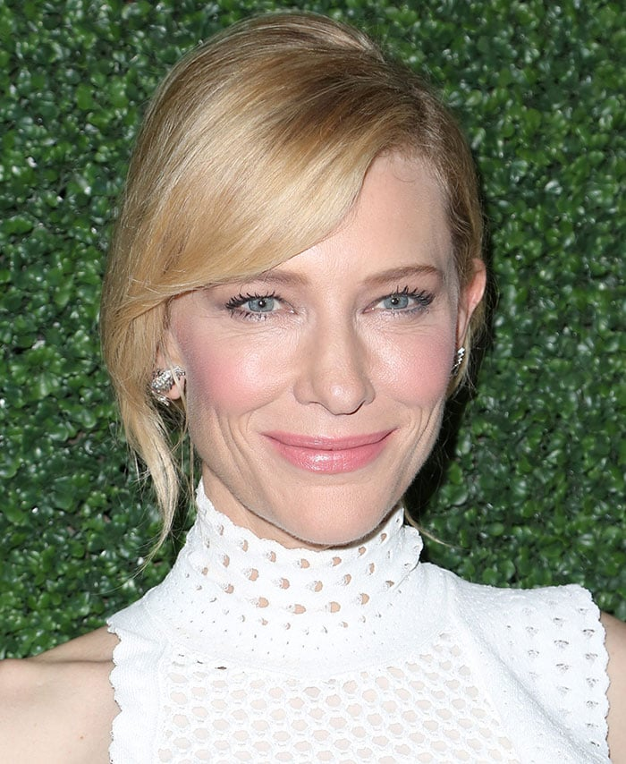 """Cate Blanchett's loose chignon hairstyle at the Los Angeles Industry Screening of """"Truth"""""""