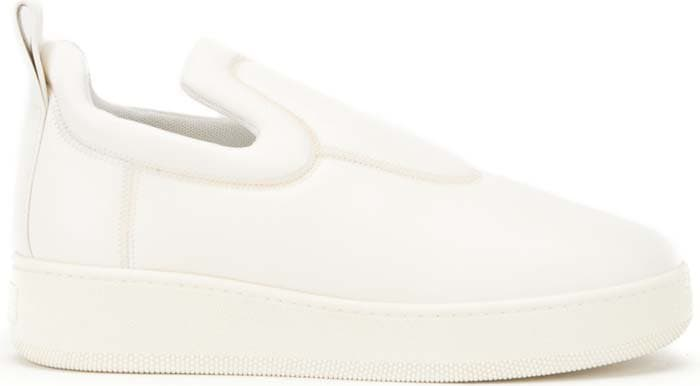 Céline White Stretch Nappa Pull-On Sneakers