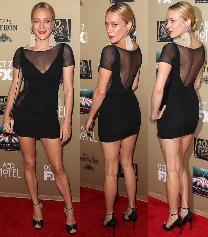 Chloë Sevigny shows off her too-short dress on the red carpet