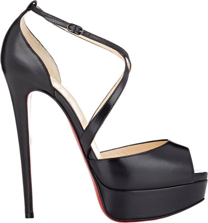 Christian Louboutin Cross Me Platform Sandals
