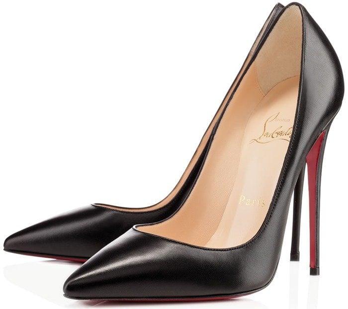 Christian Louboutin So Kate black leather pumps