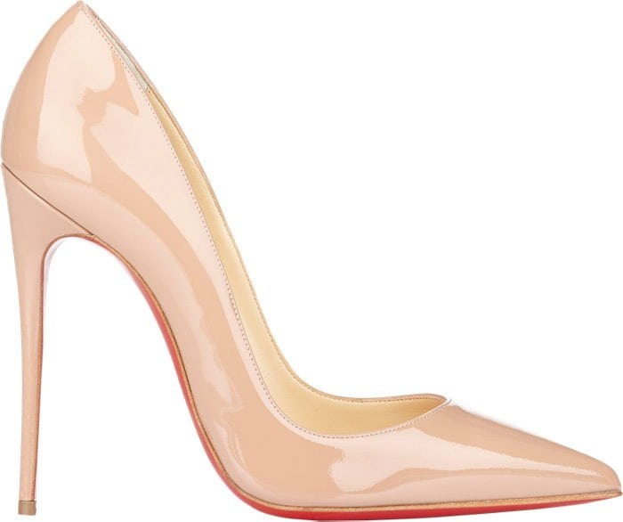 Christian Louboutin So Kate Pumps in Nude Patent