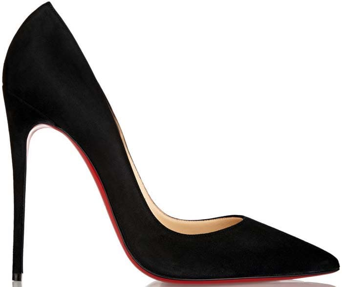 Christian Louboutin So Kate in Black Suede