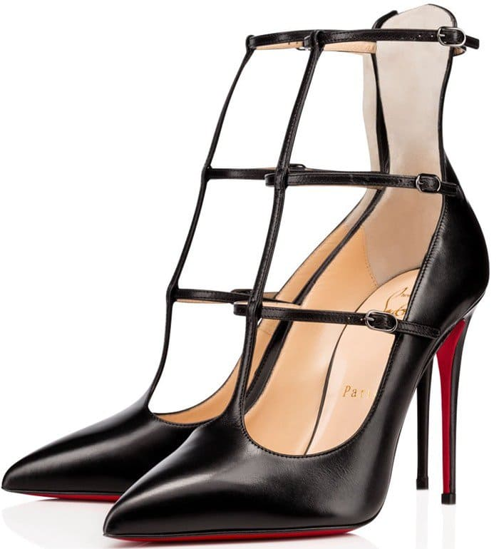 Christian Louboutin Toerless Muse Triple T-Strap Pumps