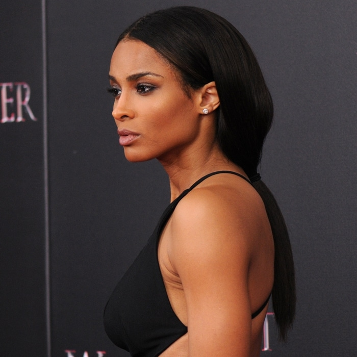 Ciara shows how to do a ponytail with a middle part