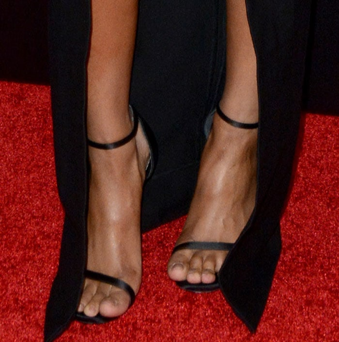 Ciara displays her toes in sexy Nudist shoes