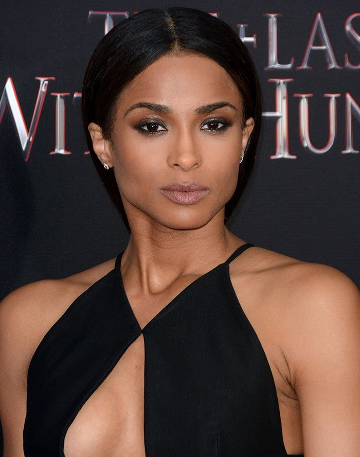 """Ciara with middle part hairstyle at the premiere of """"The Last Witch Hunter"""""""