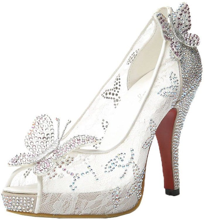 Cinderella Wedding High Heel Shoes