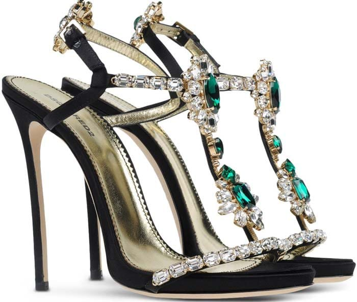 """Dsquared2 """"Queen Mary"""" jeweled t-strap sandals"""