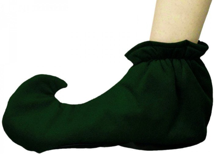 Dark Green Adult Elf Shoes