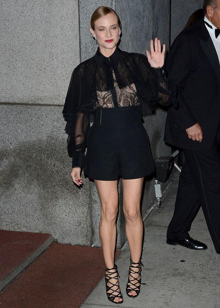 Diane Kruger wears a Jason Wu ensemble to the 2015 Night of Stars Gala
