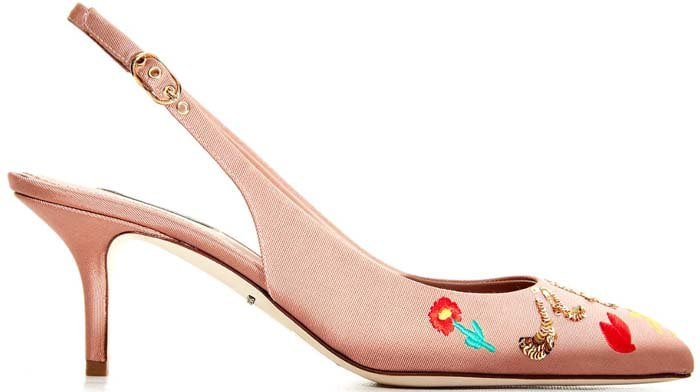 "Dolce & Gabbana ""Je T'aime Maman"" Sequin-Embellished Pumps"