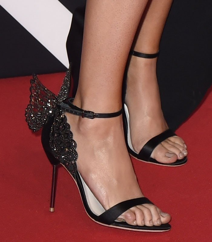 565022cdf4 Ellie Goulding's shoes feature fluttering laser-cut 3D angel wings with  crystal embellishments and scalloped