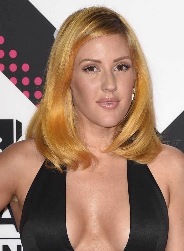 Ellie Goulding's new yellow-orange hair color