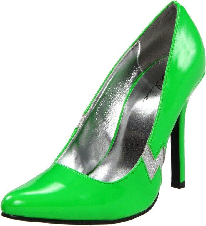 Ellie Shoes 420-Jem Pump Green