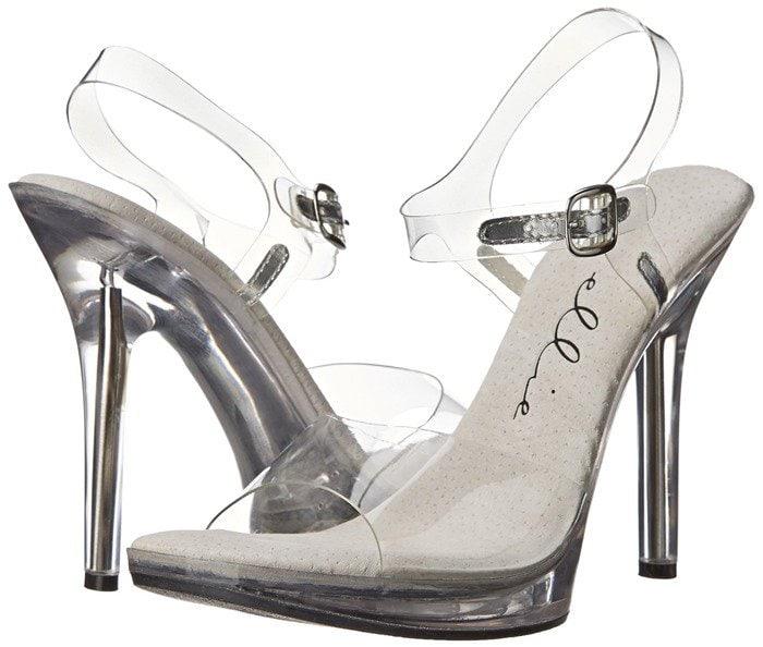 Ellie Shoes 502 Brook Clear Dress Sandal