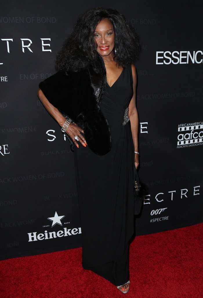 """Actress Trina Parks attends """"Spectre""""-The Black Women of Bond tribute"""