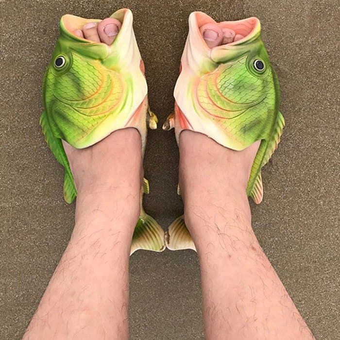 Fish-shaped slippers