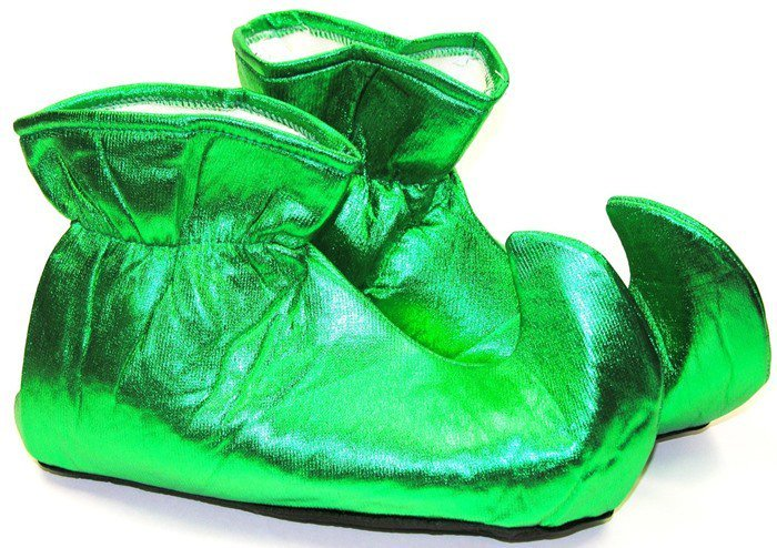 Forum Novelties Deluxe Costume Cloth Elf Shoes Green