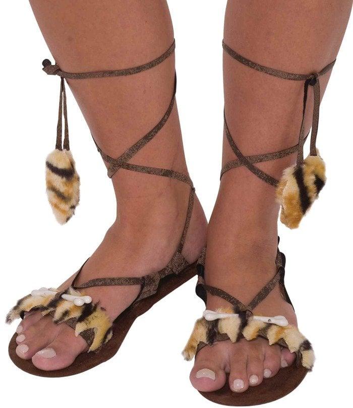 Forum Novelties Stone Age Costume Sandals