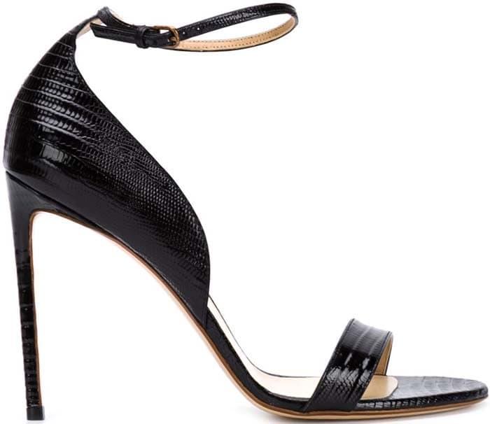 Francesco Russo Croc Effect Sandals